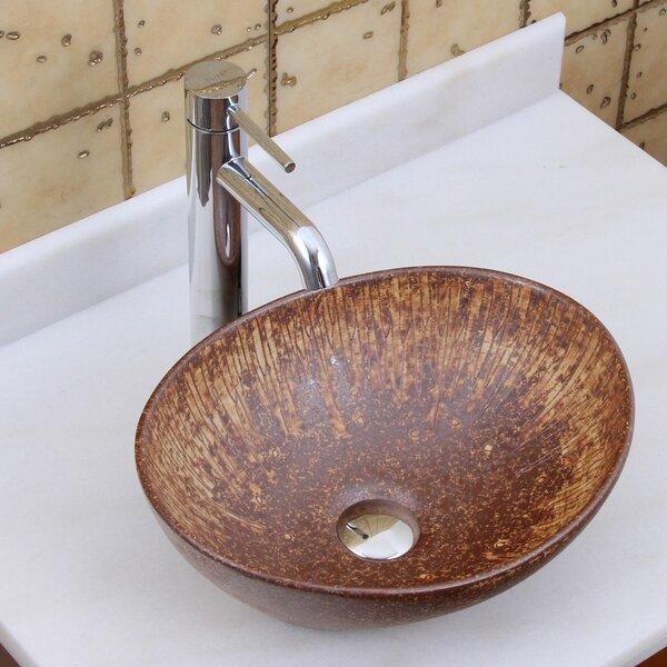 Elite Ceramic Oval Vessel Bathroom Sink by Elimaxs