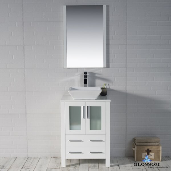 Mance 24 Single Bathroom Vanity Set with Mirror by Orren Ellis
