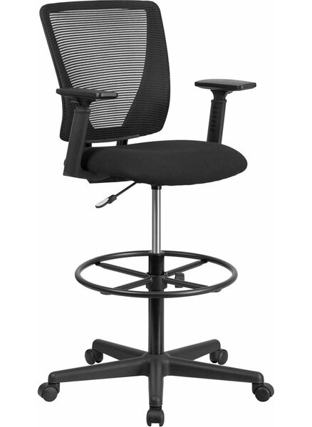 Drinnon Mid-Back Mesh Drafting Chair by Ebern Designs
