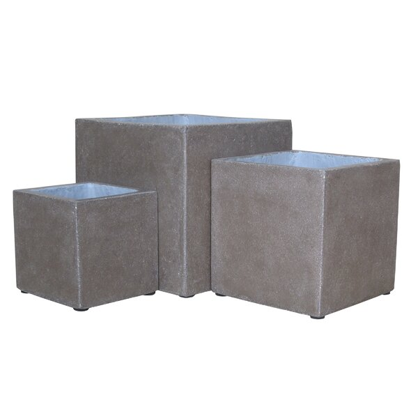 3-Piece Stone Planter Box Set by BIDKhome