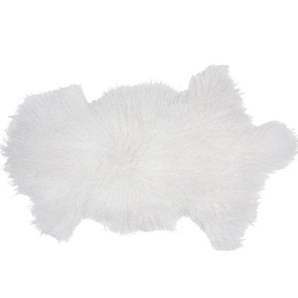 Irving Sheepskin Mongolian White Area Rug by Union Rustic