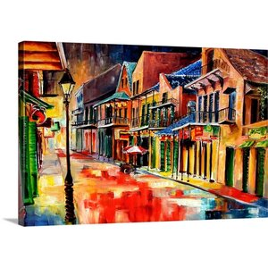 'New Orleans Jive' by Diane Millsap Painting Print on Canvas by Canvas On Demand