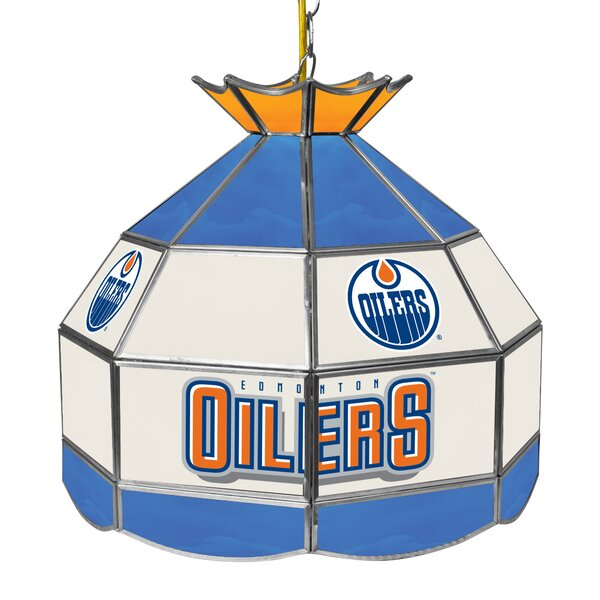 NHL Stained Glass 1-Light Pool Table Lights Pendan
