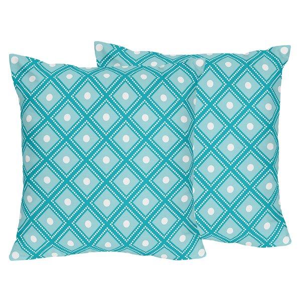 Mod Elephant Cotton Throw Pillow (Set of 2) by Sweet Jojo Designs