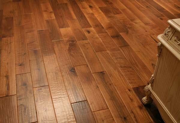 Montage 5 Solid Walnut Hardwood Flooring in Walnut by Alston Inc.