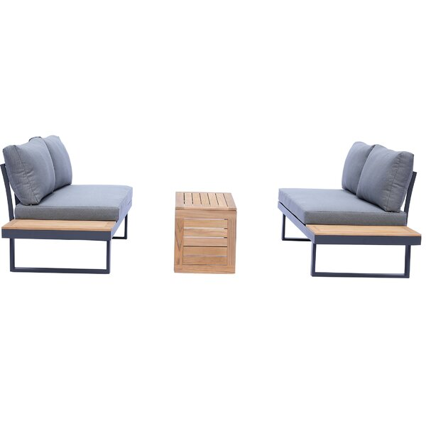 Mounce 3 Piece Sofa Seating Group with Cushions by Ivy Bronx