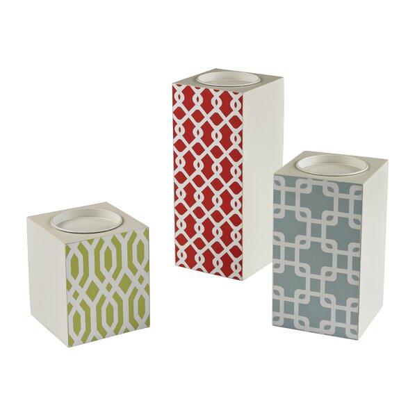 3 Piece Medium Density Fibreboard Votive Set by Ebern Designs