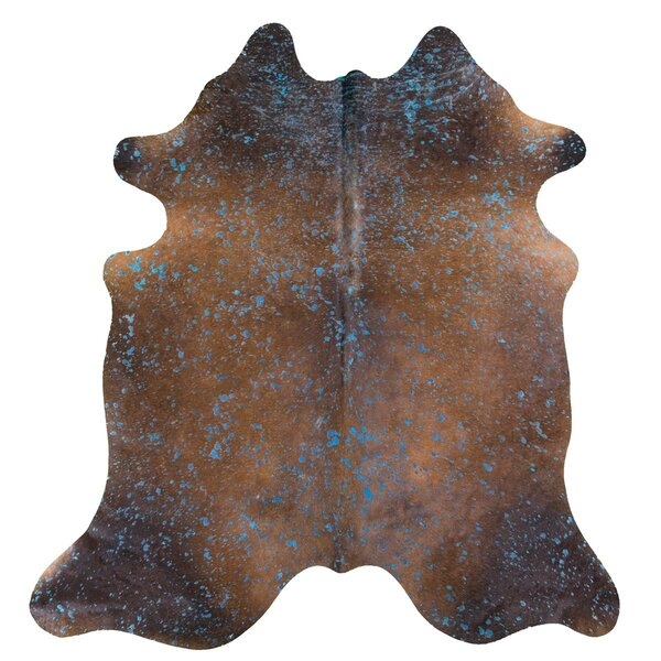 Burgess Acid Wash on Cowhide Brown Indoor/Outdoor Area Rug by Union Rustic