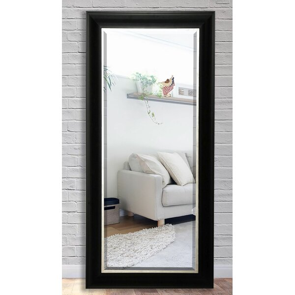 Black Wood Beveled Wall Mirror by Darby Home Co