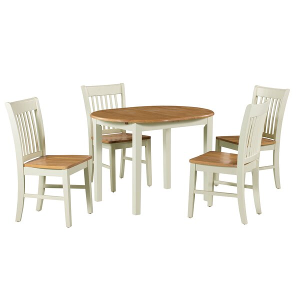 Modern Shippy 5 Piece Extendable Solid Wood Dining Set By August Grove 2019 Sale