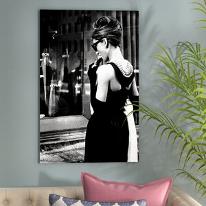 Radio Days 'Breakfast at Tiffany's Series: Audrey Hepburn Window Shopping I' Photographic Print on Canvas by East Urban Home
