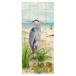 Heron Drawing Print Multi-Piece Image on Wood by Artehouse LLC
