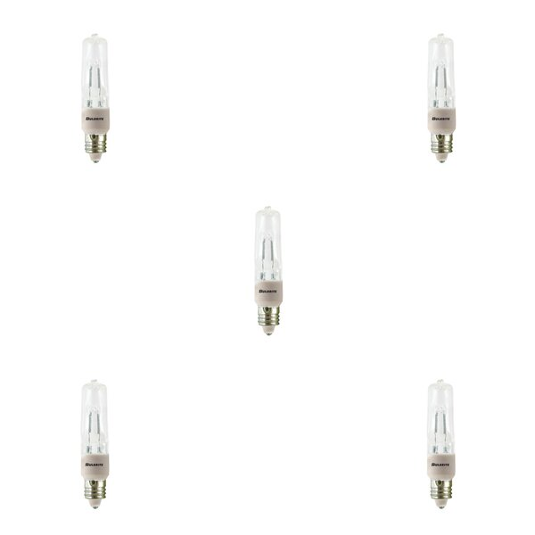 150W E11 Dimmable Halogen Capsule Light Bulb (Set of 5) by Bulbrite Industries