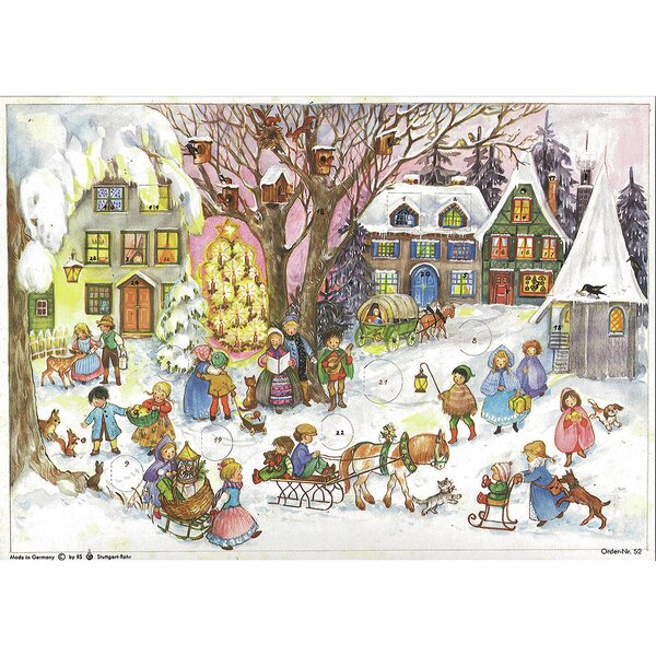 Sellmer Small Village Scene with Carolers Advent Calendar by The Holiday Aisle