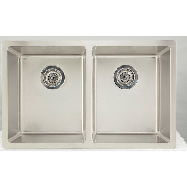 32 X 17.5 Double Basin Undermount Kitchen Sink with 18 Gauge