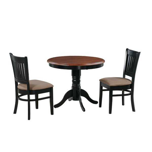 Corcoran 3 Piece Solid Wood Dining Set by Alcott Hill Alcott Hill