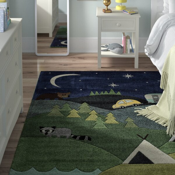 Johnnie Hand-Tufted Blue Kids Rug by Viv + Rae