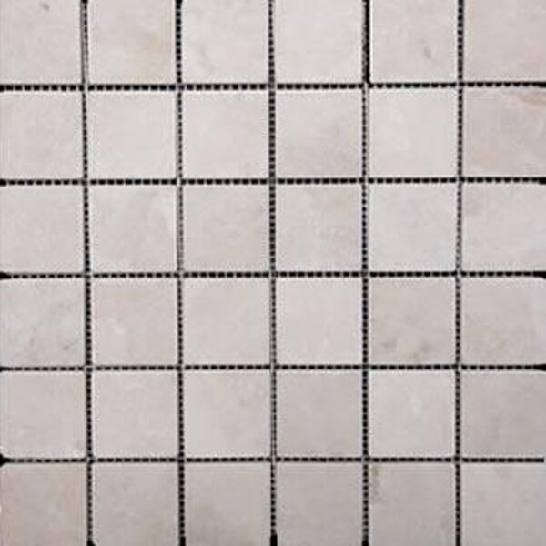 2 x 2 Travertine Mosaic Tile in Ivory by Epoch Architectural Surfaces