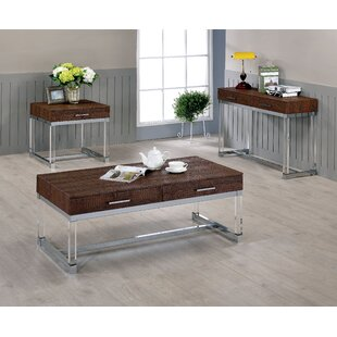 Maxwell 3 Piece Coffee Table Set Mercer41