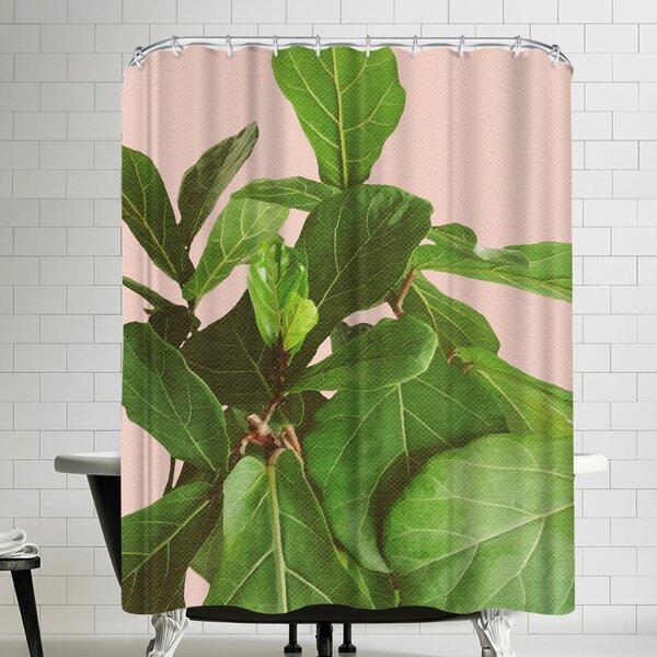 Ikonolexi Fiddle Leaf Fig Shower Curtain by East Urban Home
