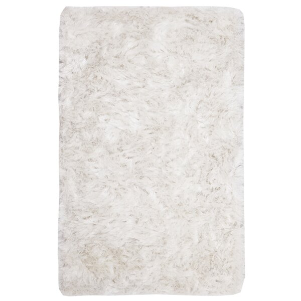 Morrell Shag Hand-Tufted Cotton Ivory Area Rug by Mercer41