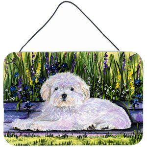 Coton de Tulear Indoor by Suzanne Staines Painting Print Plaque by Caroline's Treasures