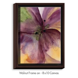'Pansy III' by Dawn Derman Painting Print on Wrapped Framed Canvas by DiaNoche Designs