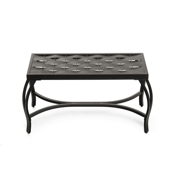 Parthenia Weave Metal Bench by Ebern Designs