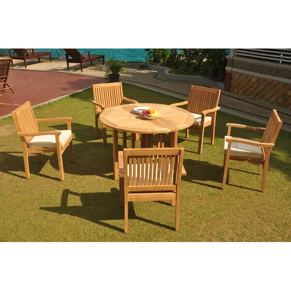 Oakgrove 6 Piece Teak Dining Set by Rosecliff Heights