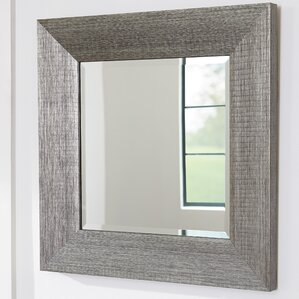 Wayfair Wall Mirrors wood frame chrome mirror | wayfair
