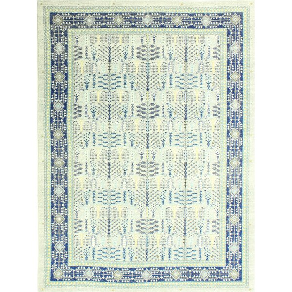 Felicienne Geometric Silver Area Rug by World Menagerie