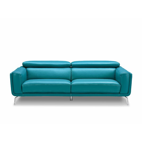 Lora Leather Sofa by Orren Ellis Orren Ellis