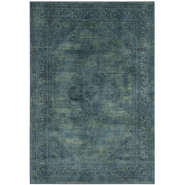 Makenna Power Loomed Turquoise/Blue Area Rug by Mistana