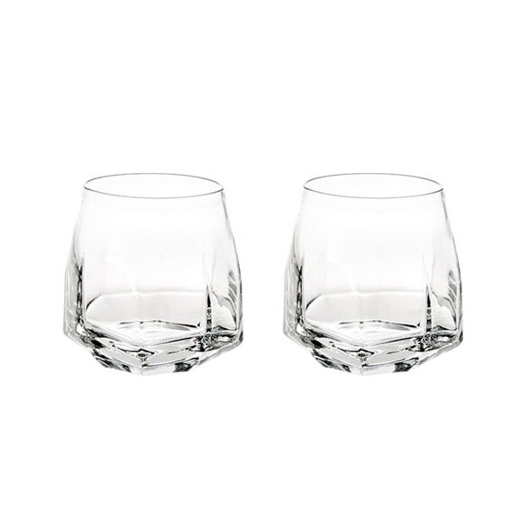 Gemstone Old-Fashioned Crystal Cocktail Glass (Set of 2) by Vista Alegre