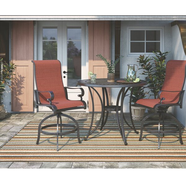 Wydra 27.13-inch Patio Bar Stool (Set of 2) by Darby Home Co Darby Home Co