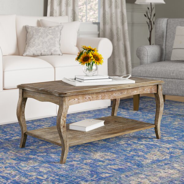 Francoise Solid Wood Coffee Table With Storage By Lark Manor