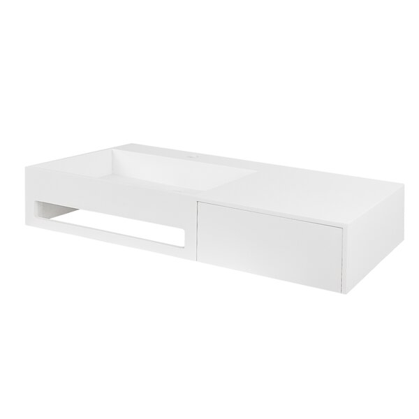 Vernon Stone 35.5 Wall Mount Bathroom Sink by Maykke