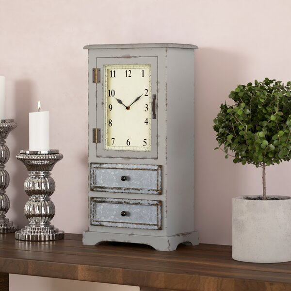 Cabinet Tabletop  Clock by One Allium Way
