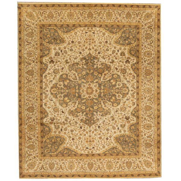 Lamani Hand-Knotted Wool Ivory Rug