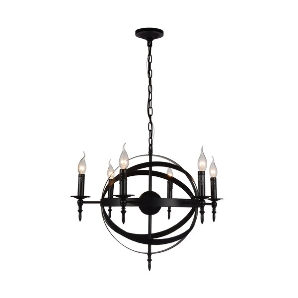 Bartz 6 - Light Candle Style Globe Chandelier by House of Hampton House of Hampton