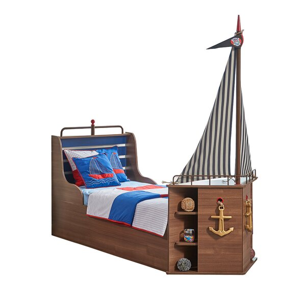 New Fairfield Captains Bed with Mattress by Breakwater Bay