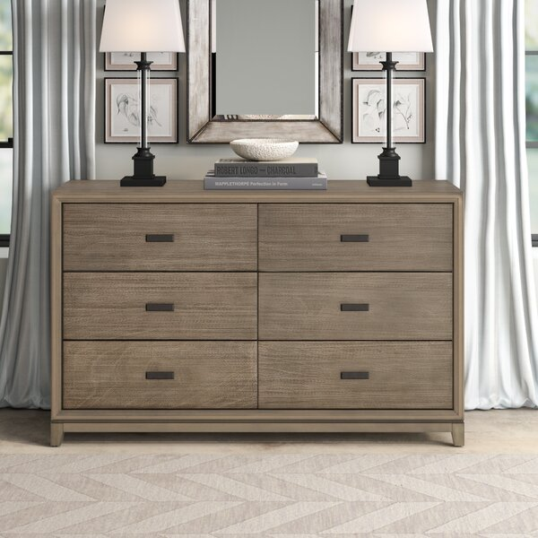 Hunziker 6 Drawer Double Dresser by Greyleigh