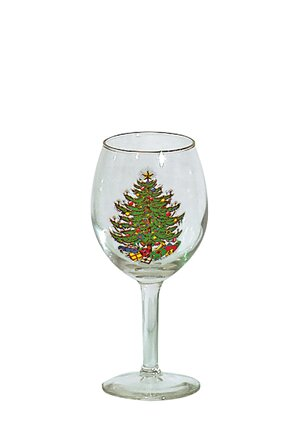 Original Christmas Tree 11 oz. White Wine Glass (Set of 8) by The Holiday Aisle