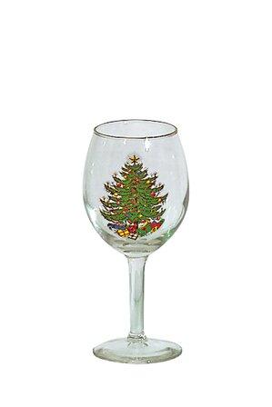 Original Christmas Tree 11 oz. White Wine Glass (S
