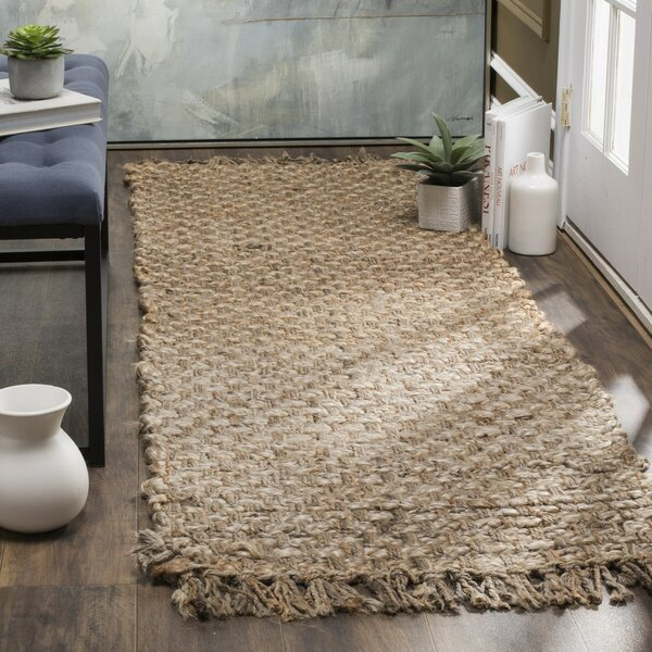 Myrtou Hand-Loomed Natural Area Rug by Bay Isle Home