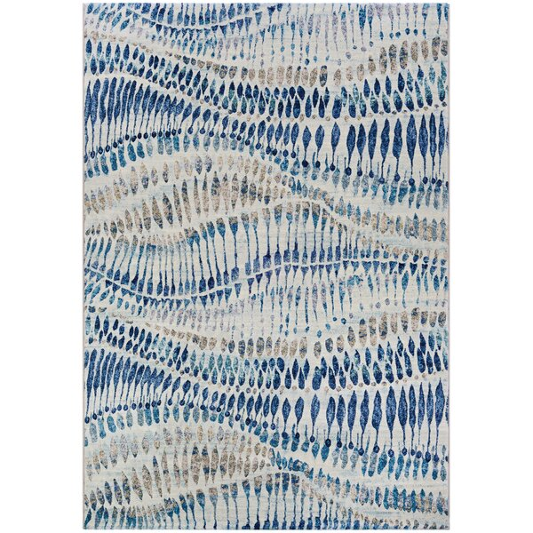 Sultan Bone Blue Area Rug by Bungalow Rose
