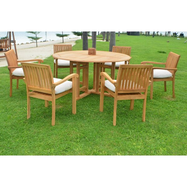 Alejandra Luxurious 7 Piece Teak Dining Set by Rosecliff Heights