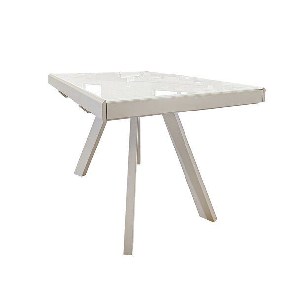 Delosreyes Double Extendable Leaf Dining Table by Orren Ellis