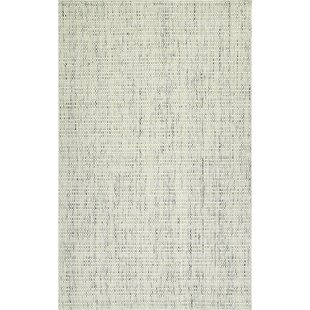 Fyffe Hand-Loomed Tufted Wool Ivory Area Rug by Highland Dunes