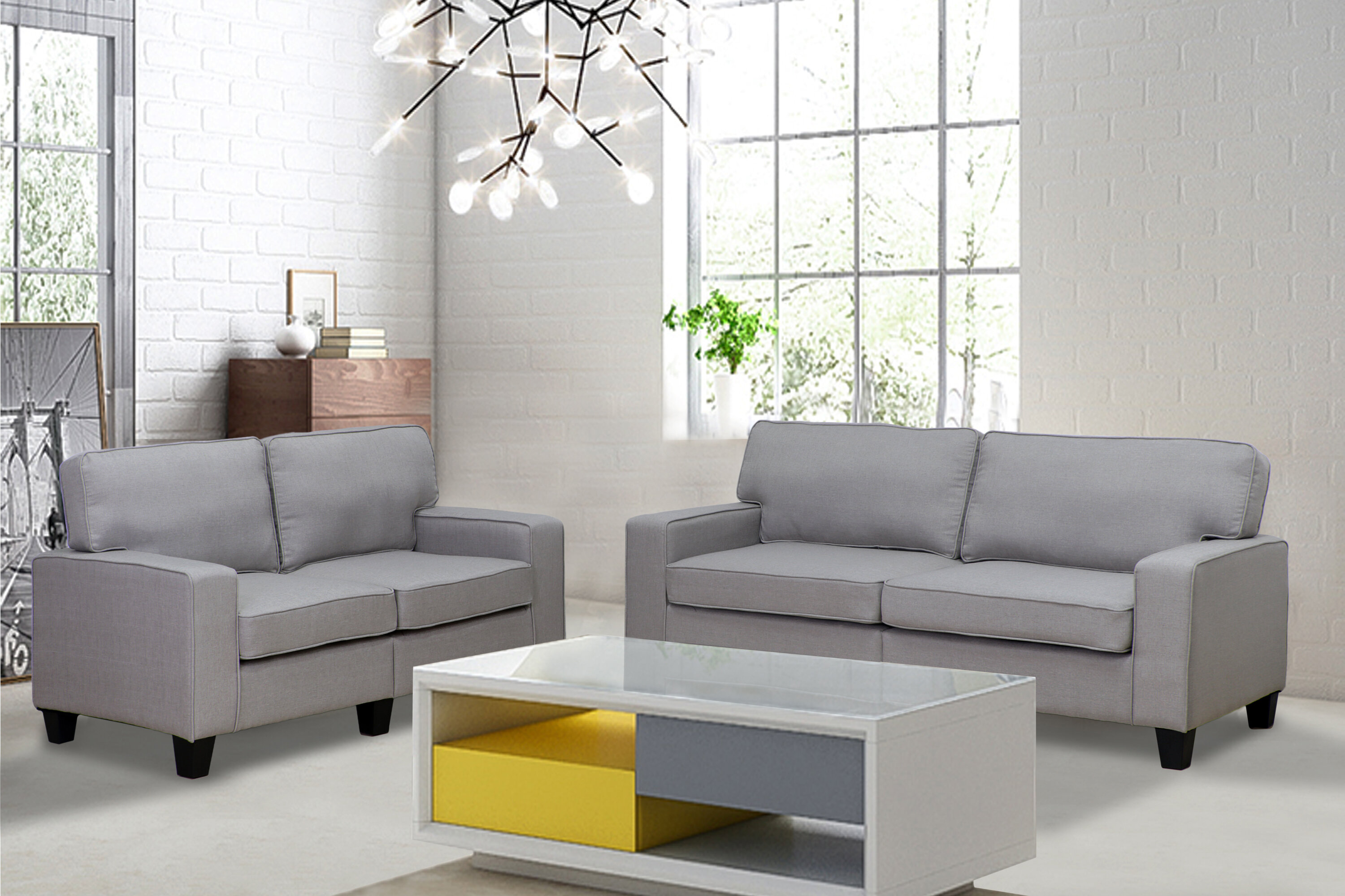 Living In Style Jordan 2 Piece Living Room Set & Reviews | Wayfair